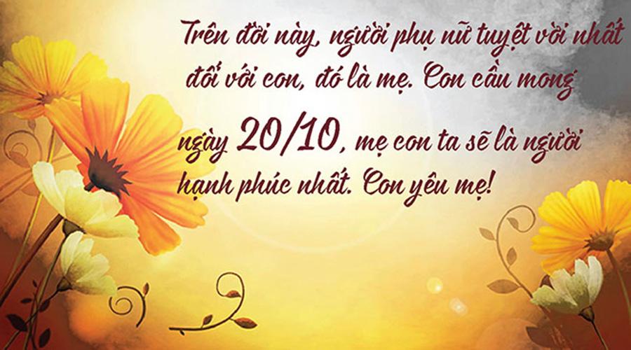 lời chúc 20-10 hay nhất gửi tặng đến chị em phụ nữ Việt Nam