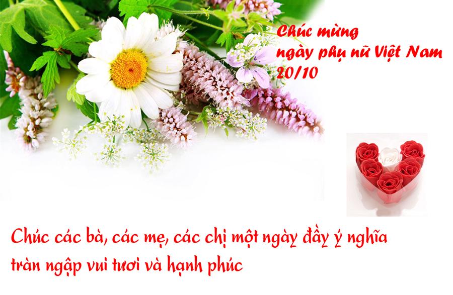 Lời chúc mừng ngày 20-10 gửi tặng phụ nữ Việt nam ý nghĩa nhất