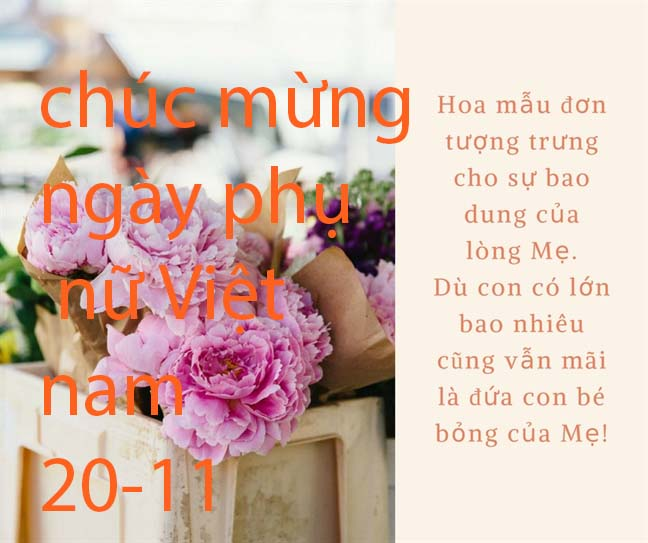 Lời thơ ý nghĩa nhất về ngày phụ nữ việt nam 20-10