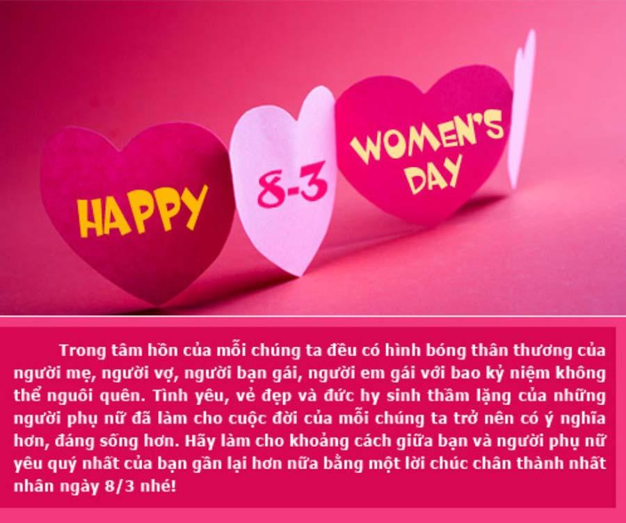 Ngày quốc tế phụ nữ 8-3 đẹp nhất