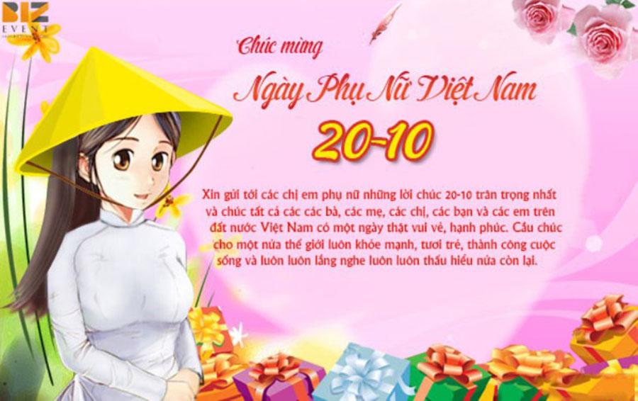 Những lời chúc yêu thương và ý nghĩa dành tặng phụ nữ Việt Nam 20-10