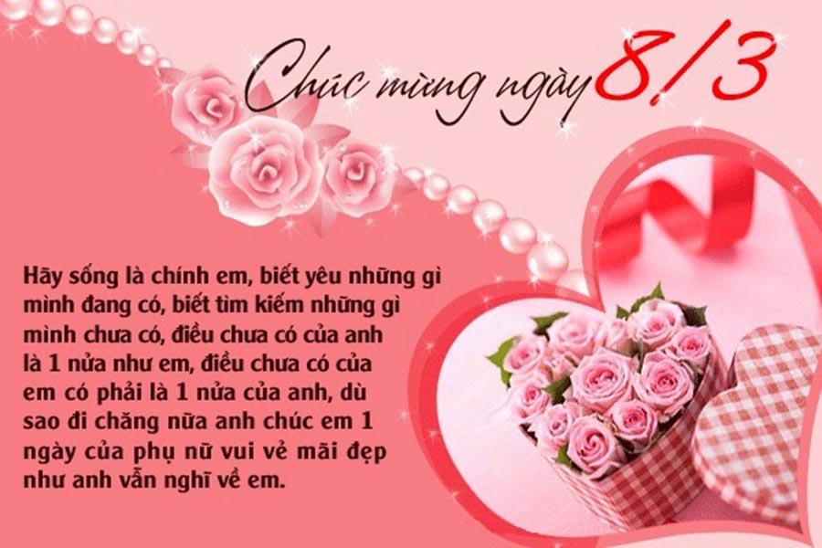 Thiệp 8-3 ý nghĩa và đẹp nhất dành tặng bạn gái