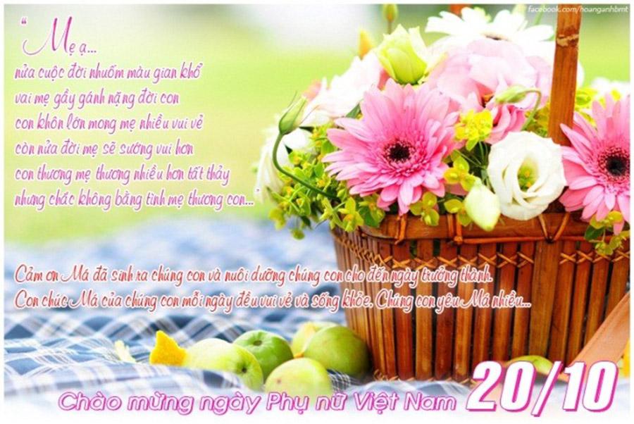 Thơ chúc mừng mẹ ngày phụ nữ việt nam 20-10 ngọt ngào nhất