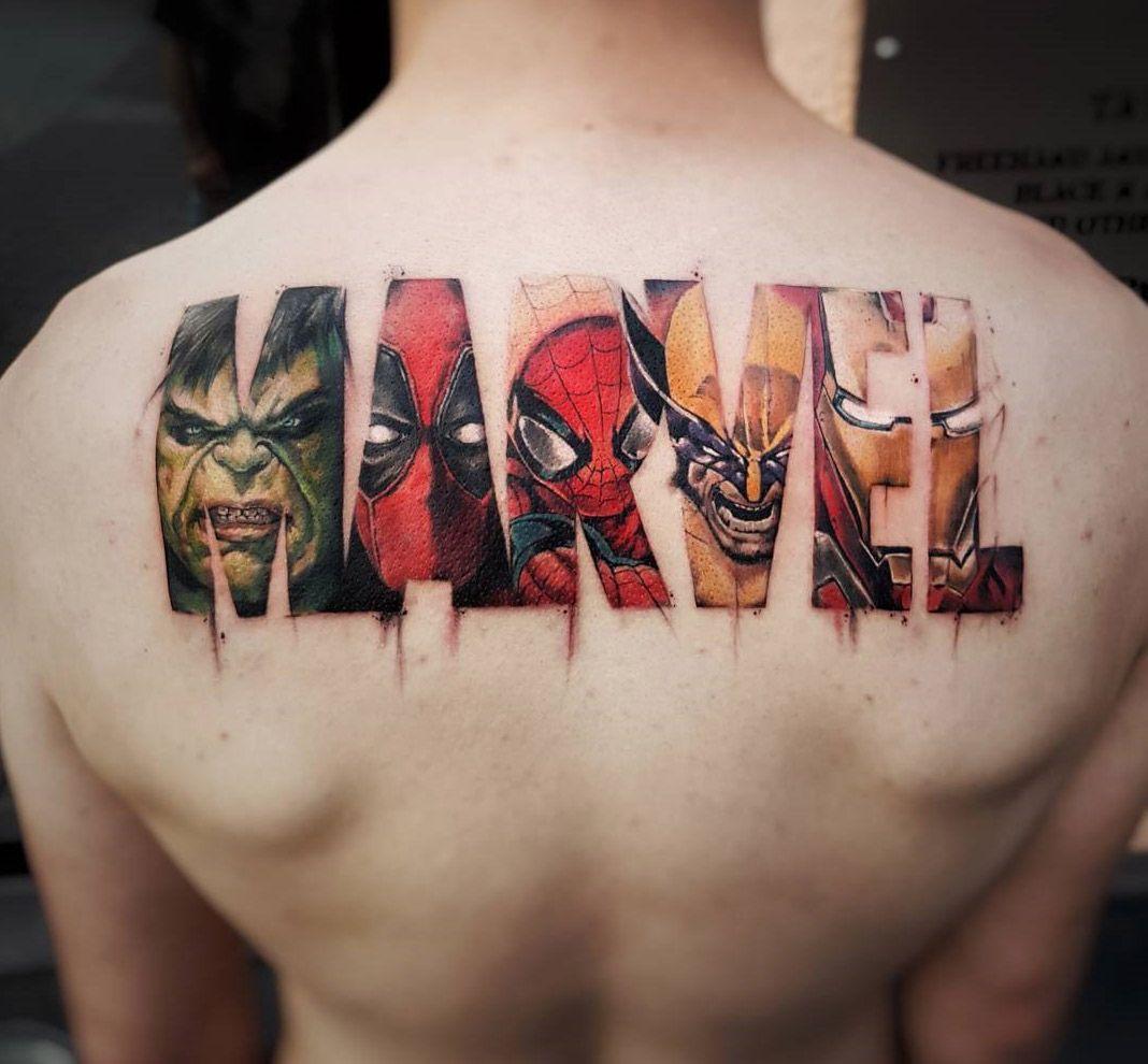 Hình xăm Marvel cho nam
