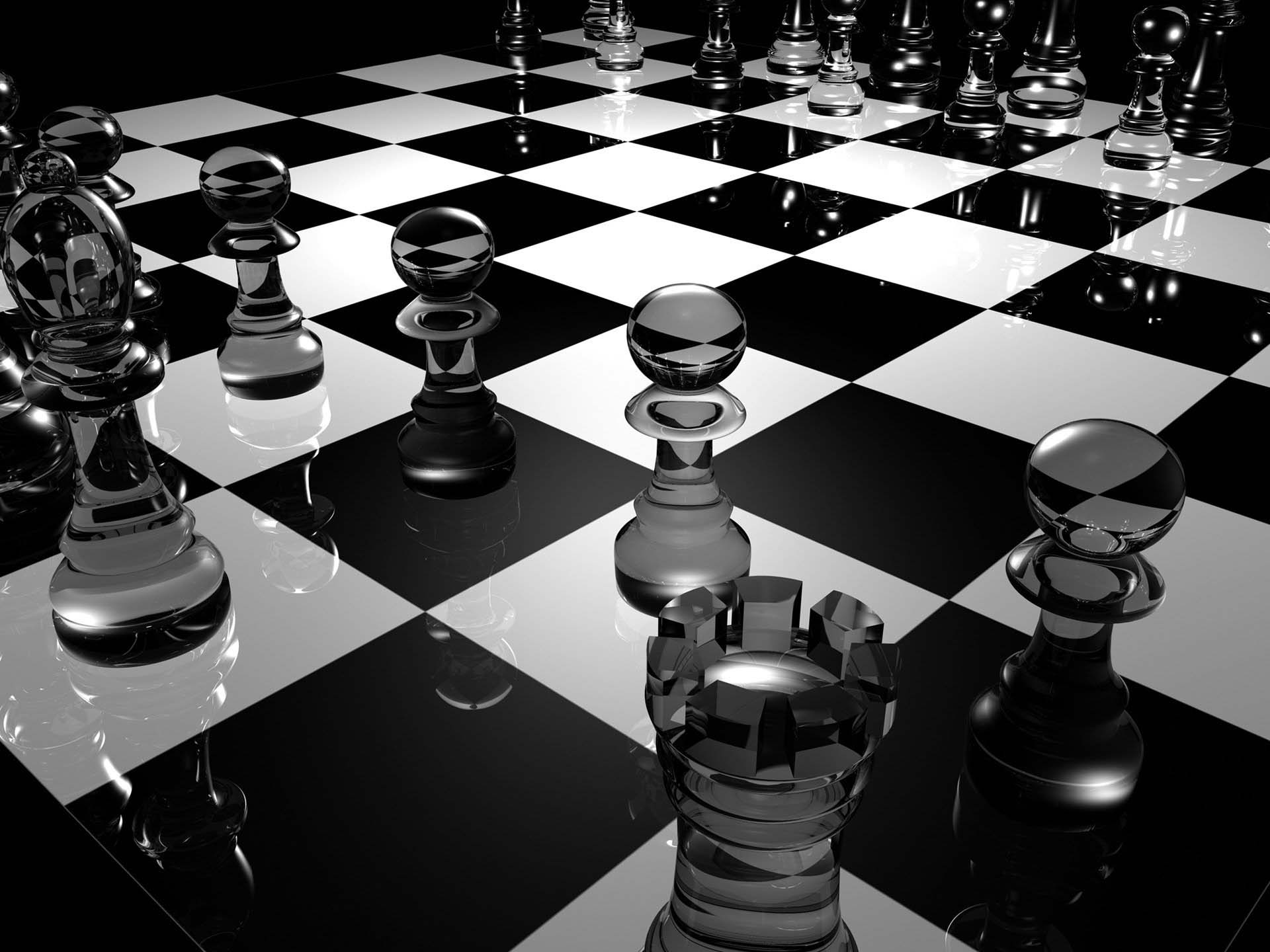 Black and white chess wallpaper