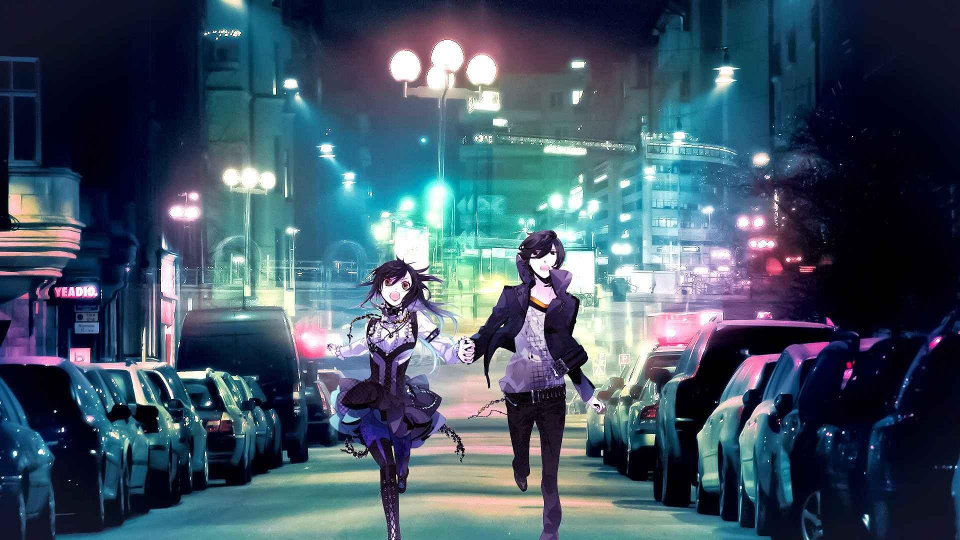 Couple in love anime wallpaper
