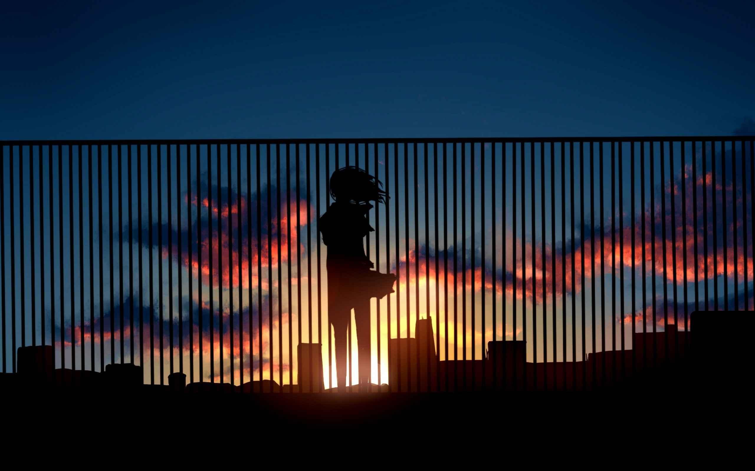 Sunset anime wallpaper