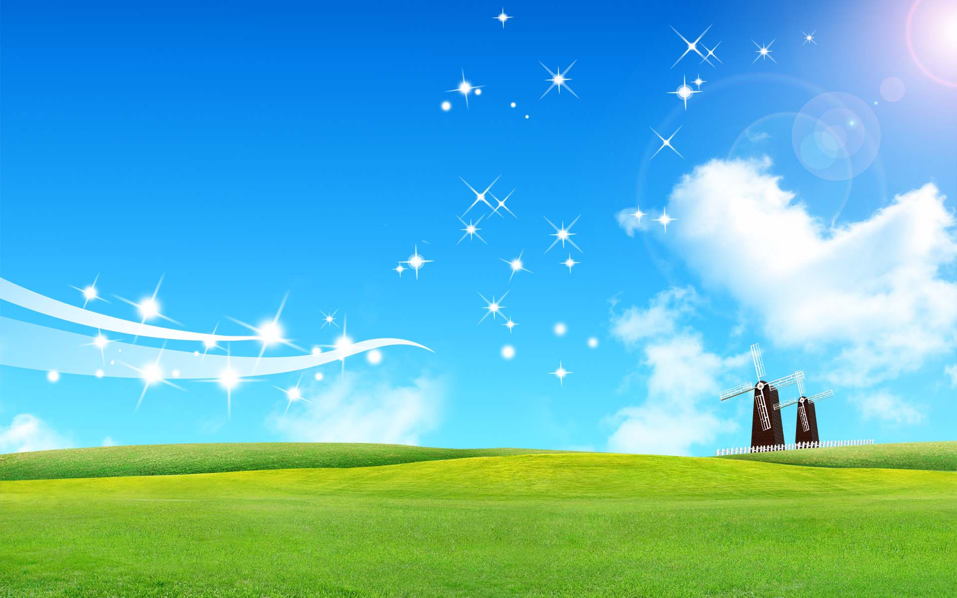 Beautiful 3D sky wallpaper