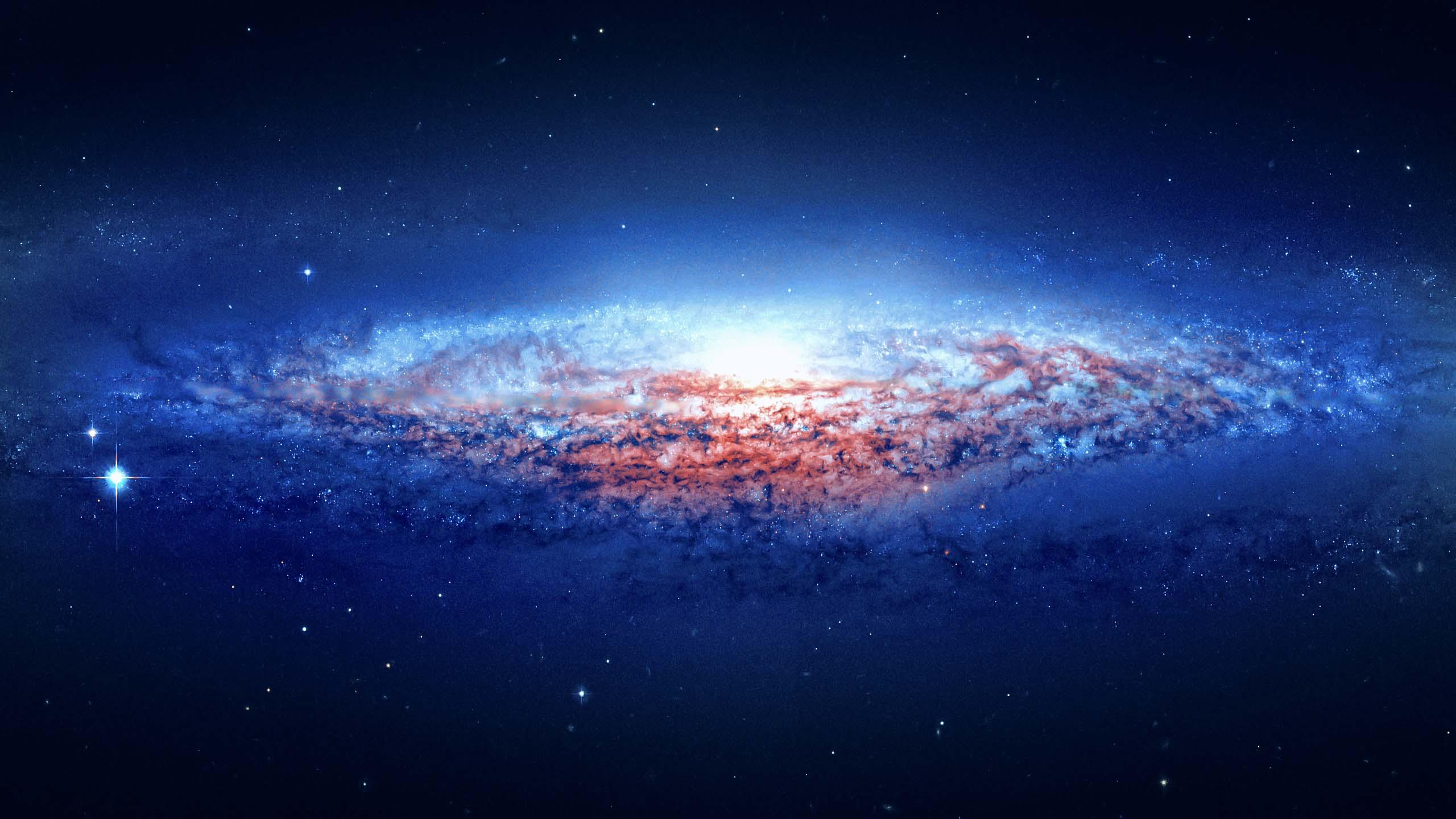 Blue galaxy wallpaper hd