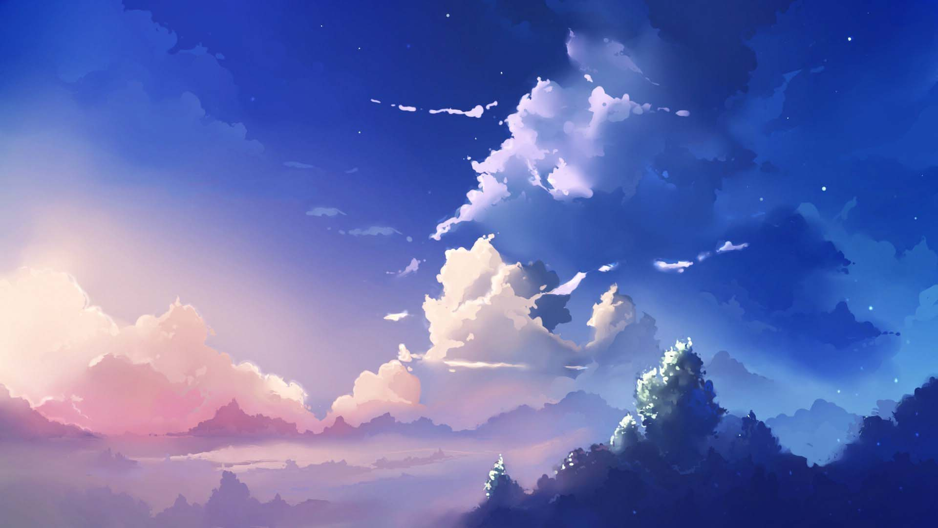 Sky wallpaper anime
