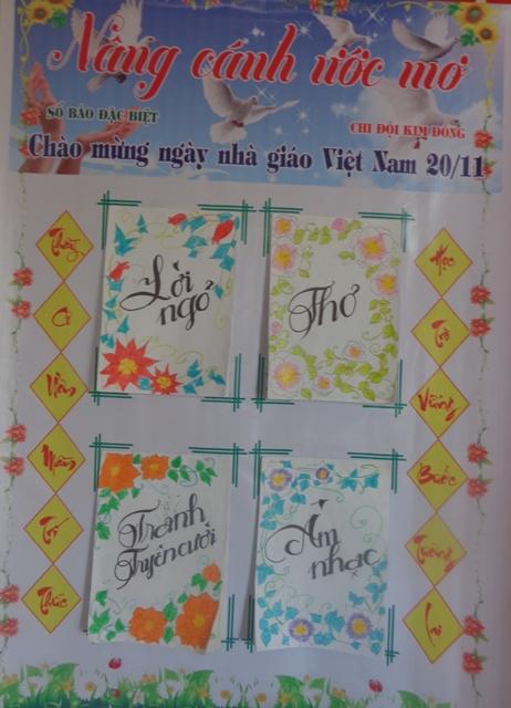 Báo tường nâng cánh ước mơ chào mừng ngày nhà giáo việt nam 20-11