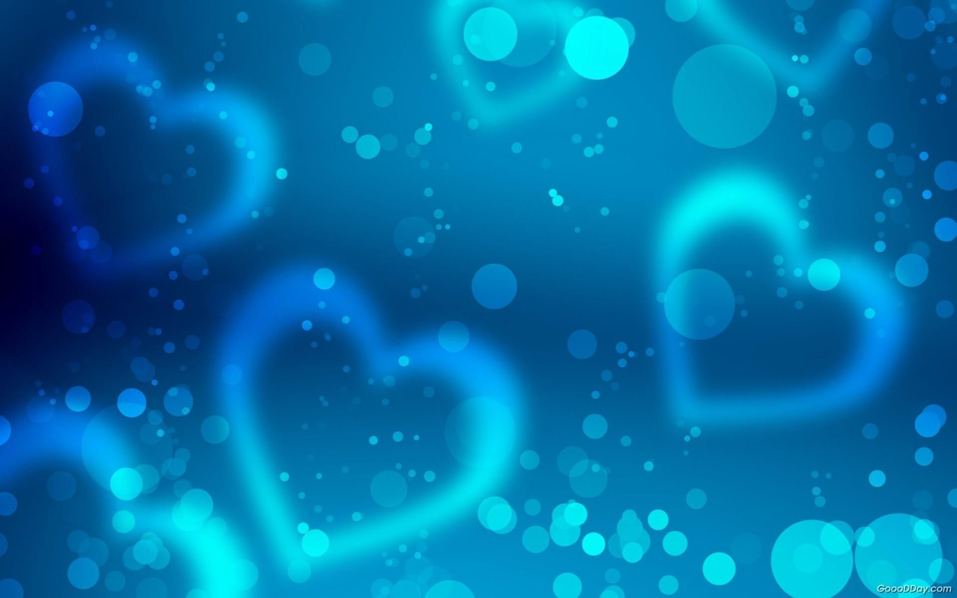 Heart blue wallpaper