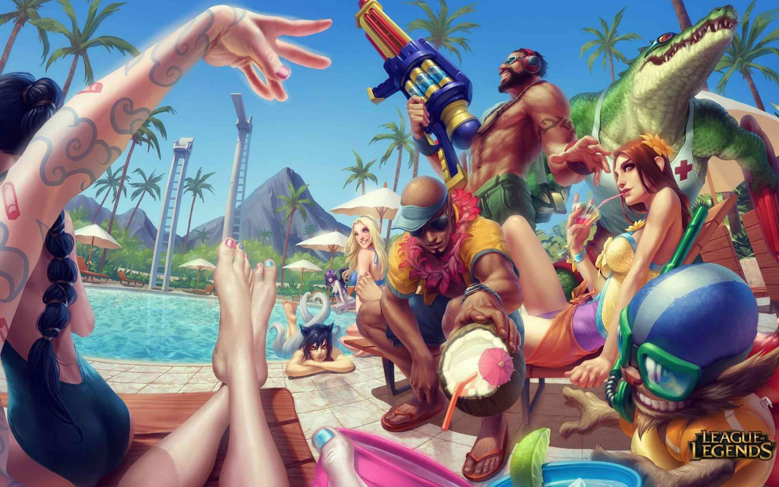 Pool party Lol wallpaper