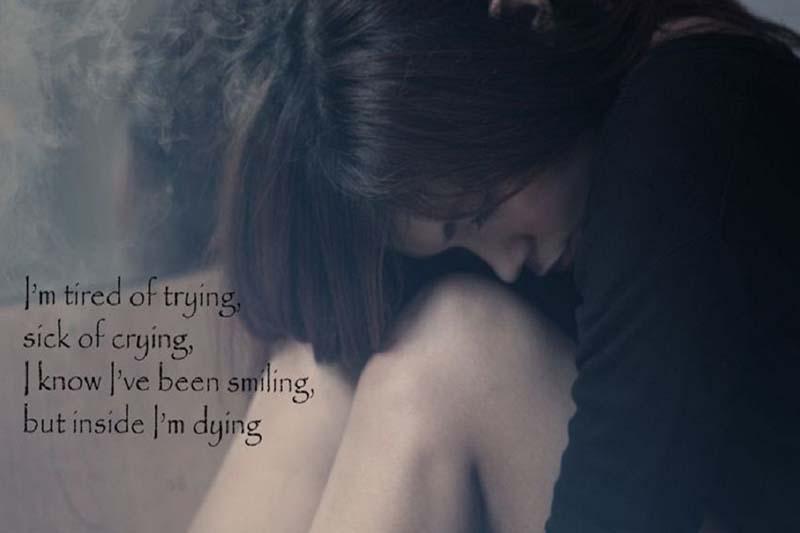 ảnh tâm trạng buồn của cô gái về tình yêu