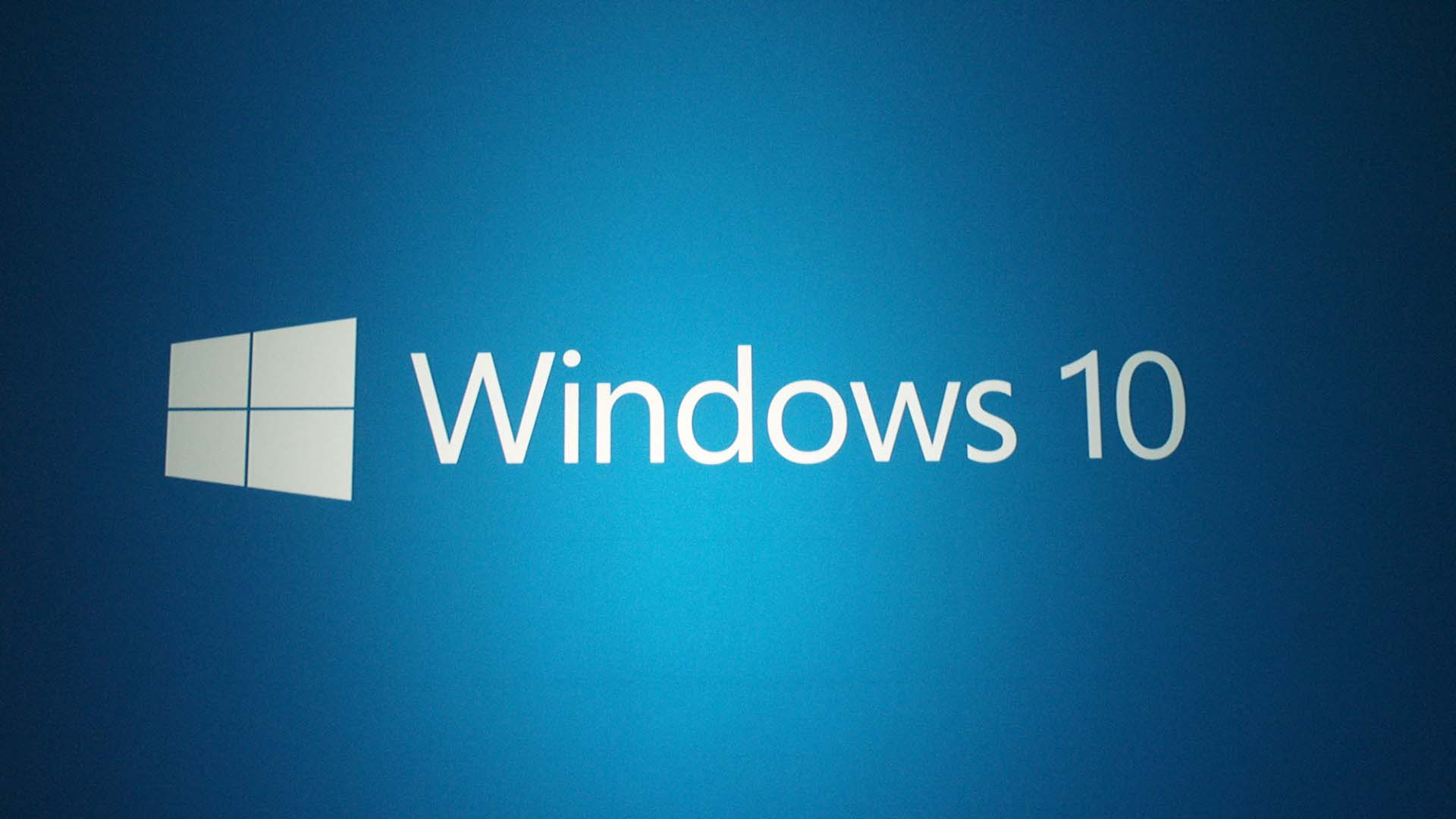 Blue windows 10 wallpaper