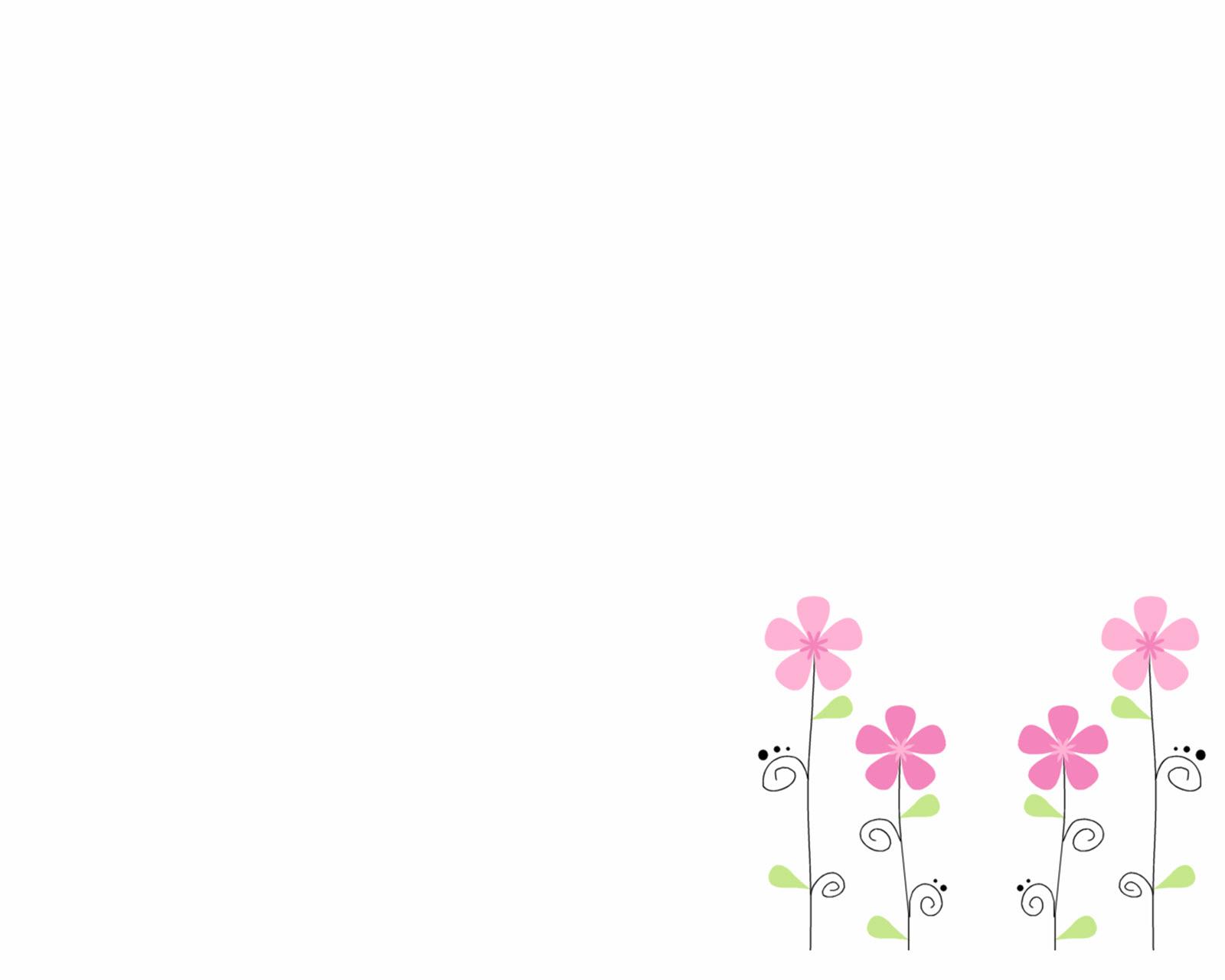 Cute flower white wallpaper