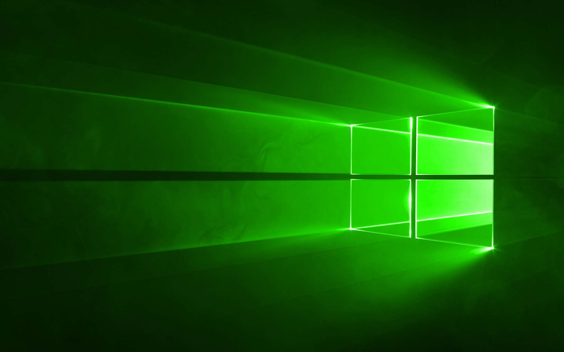 Green windows 10 wallpaper
