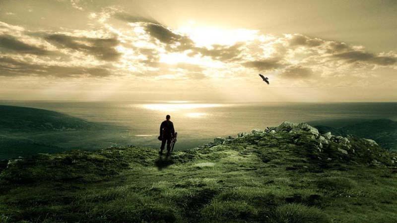 Hình ảnh chàng trai giữa khoảng trời bao la trong cuộc sống