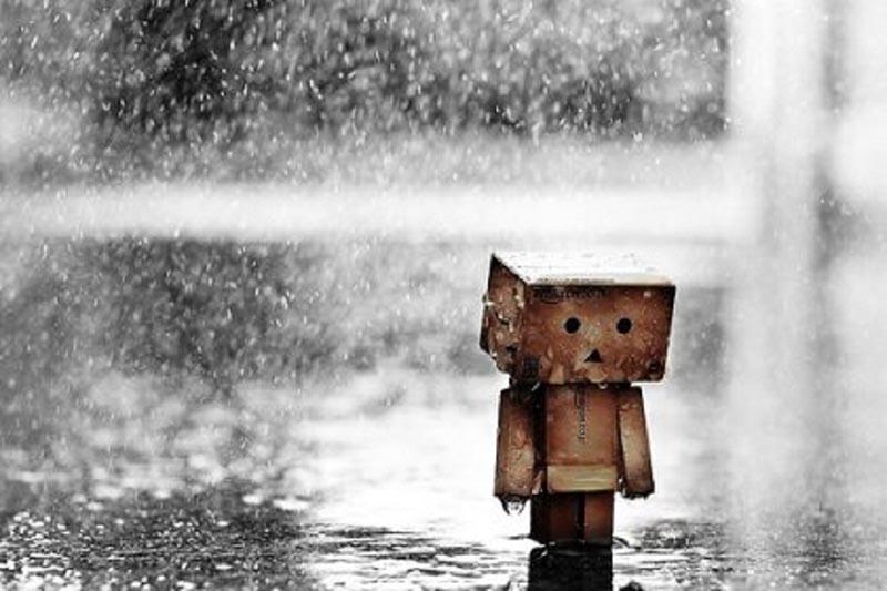 Hình ảnh mưa buồn tuyệt vọng trong cuộc sống