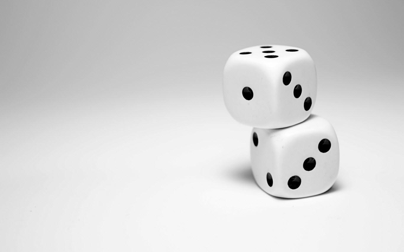 White dice wallpaper