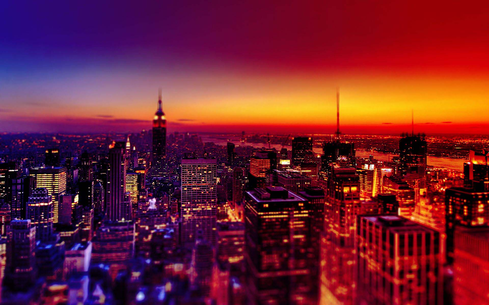 City at night wallpaper