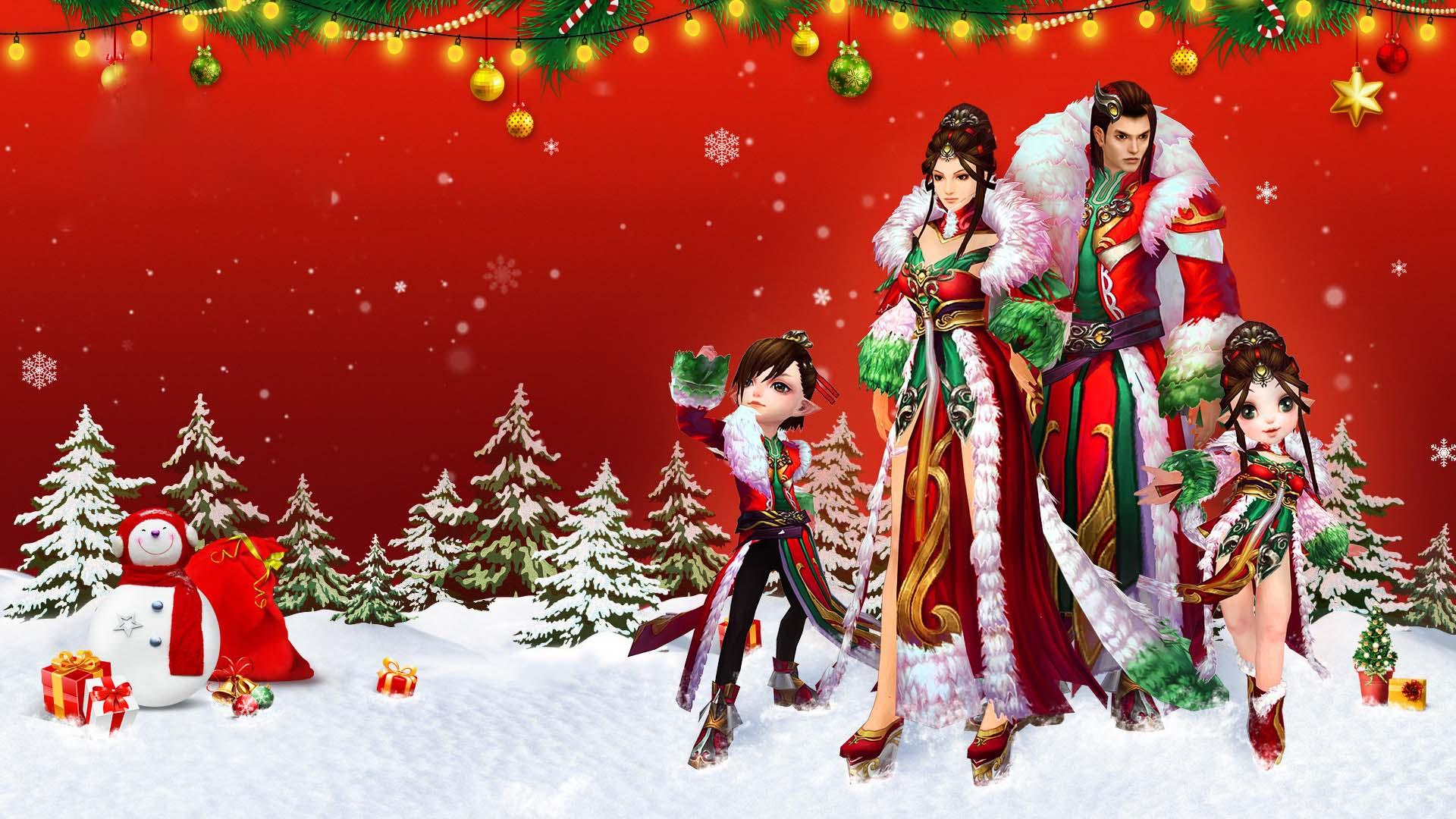 Cute wallpaper christmas 3d