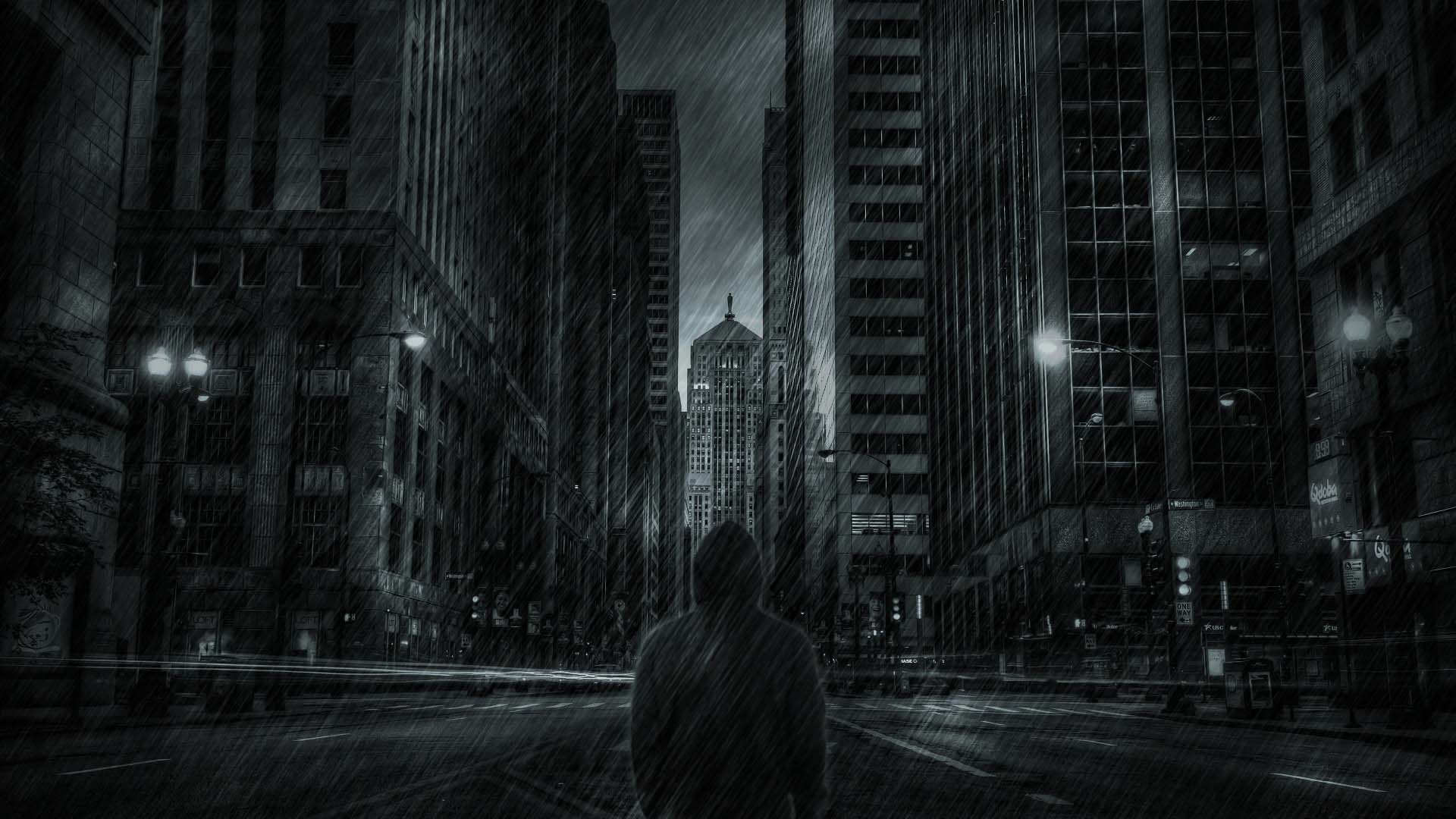Dark city wallpaper