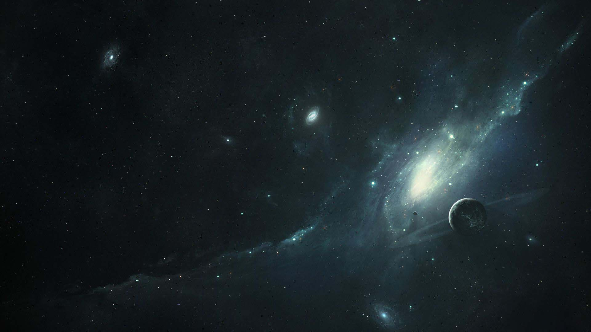 Dark galaxy wallpaper full hd