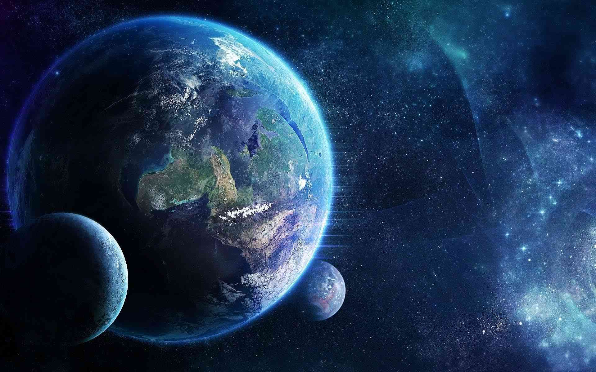 Earth and star space wallpaper