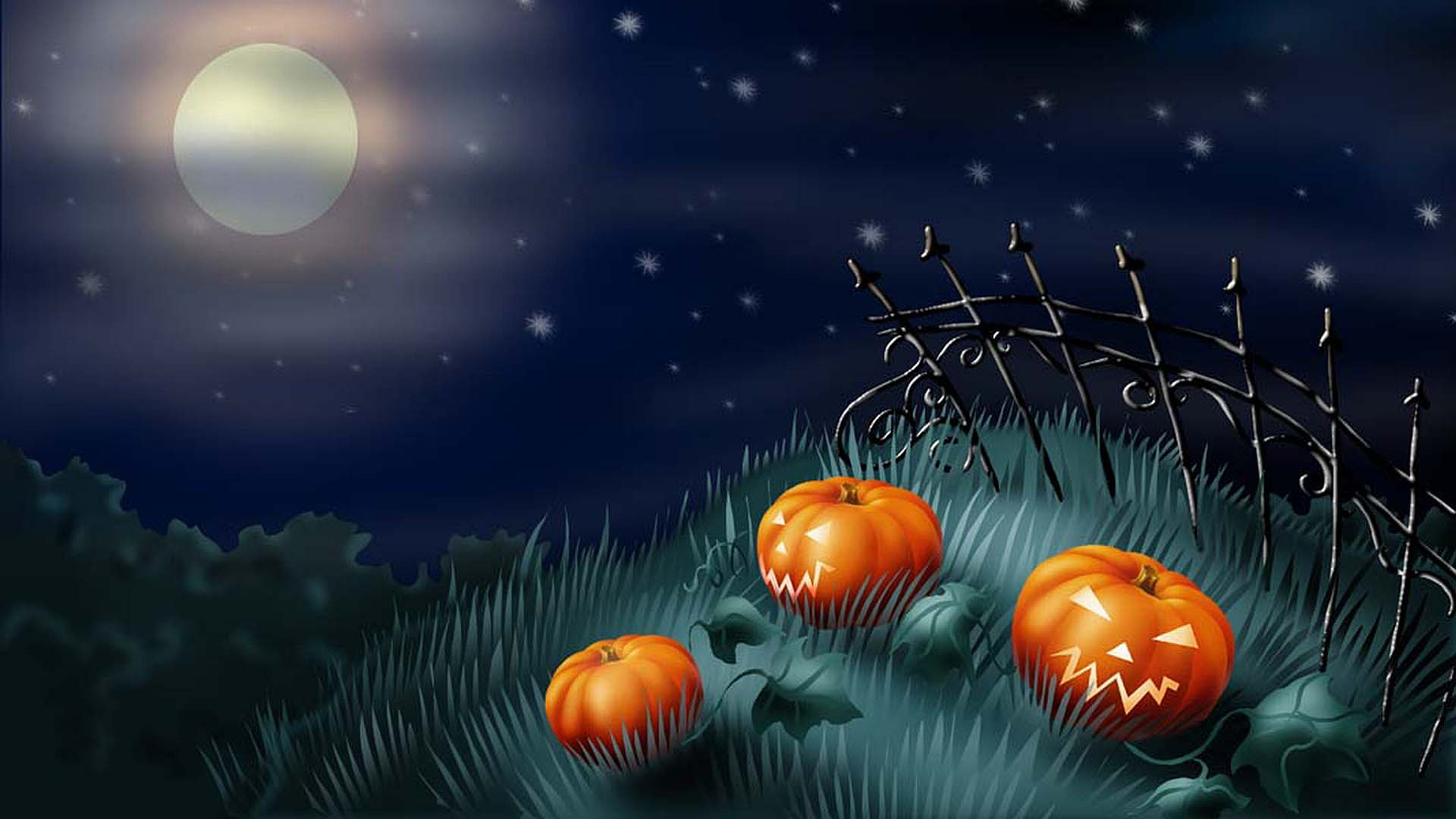 Ảnh nền halloween hoạt hình đẹp
