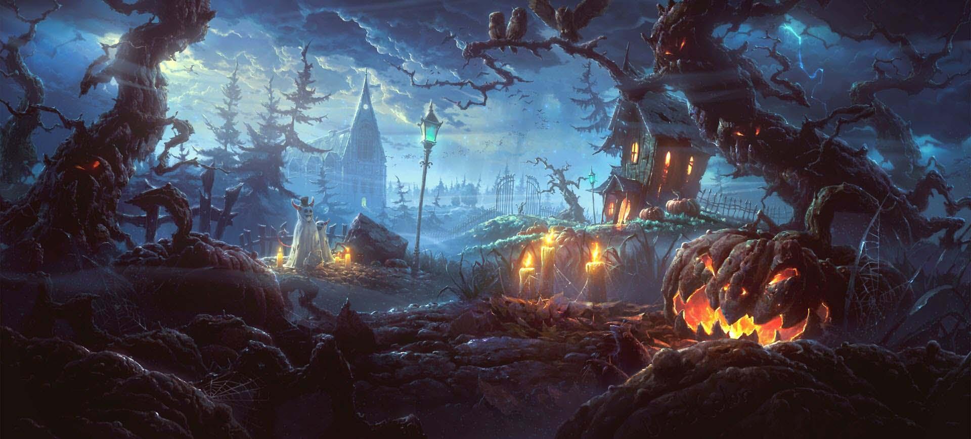 Ảnh nền Halloween hoạt hình