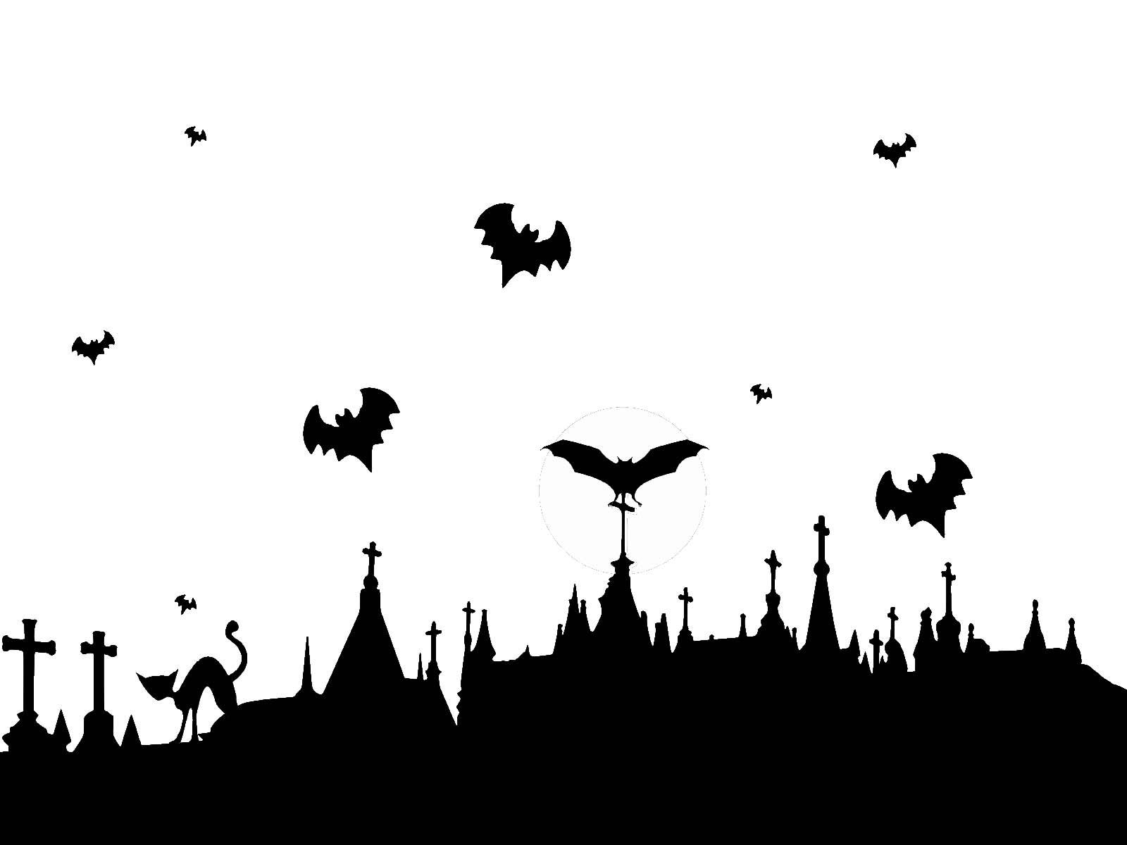 Ảnh nền Hallowen đen trắng