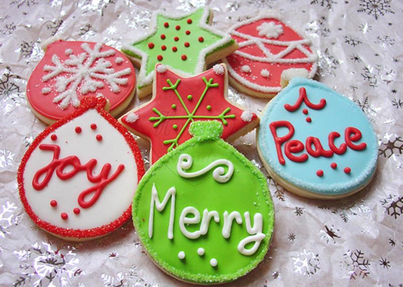 Hình ảnh trang trí bánh quy Giáng sinh