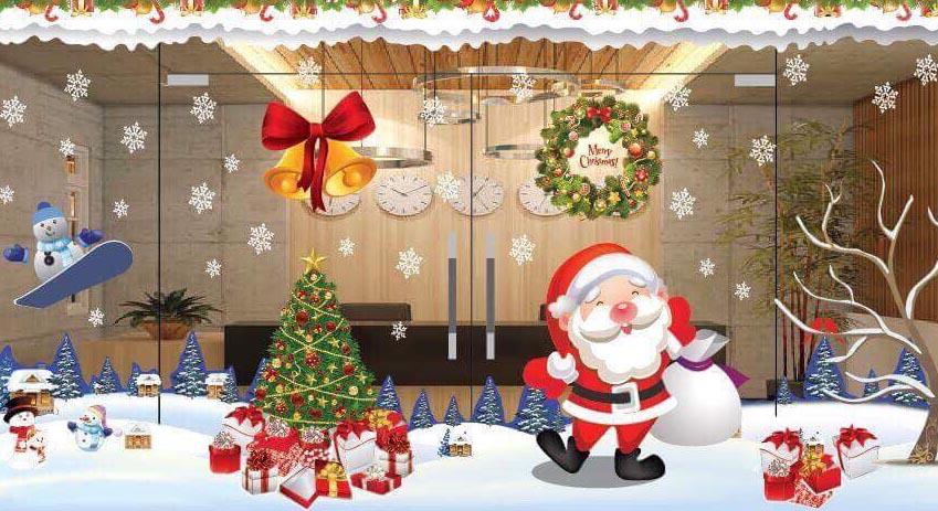 Hình ảnh trang trí giáng sinh Noel ở cửa hàng đẹp nhất