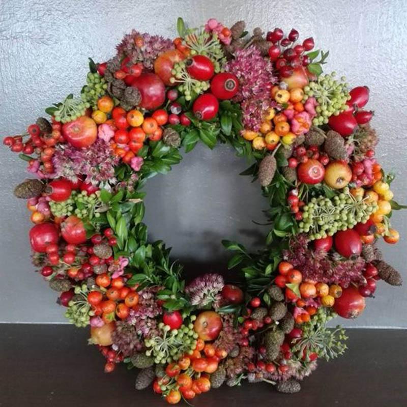 Hình ảnh vòng nguyệt quế trang trí đơn giản cho đêm Noel