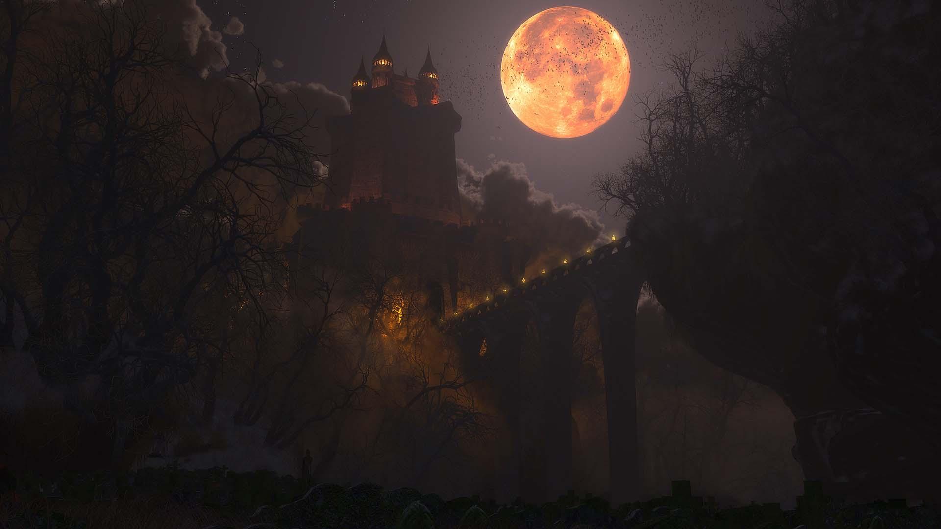 Hình nền Halloween 3D