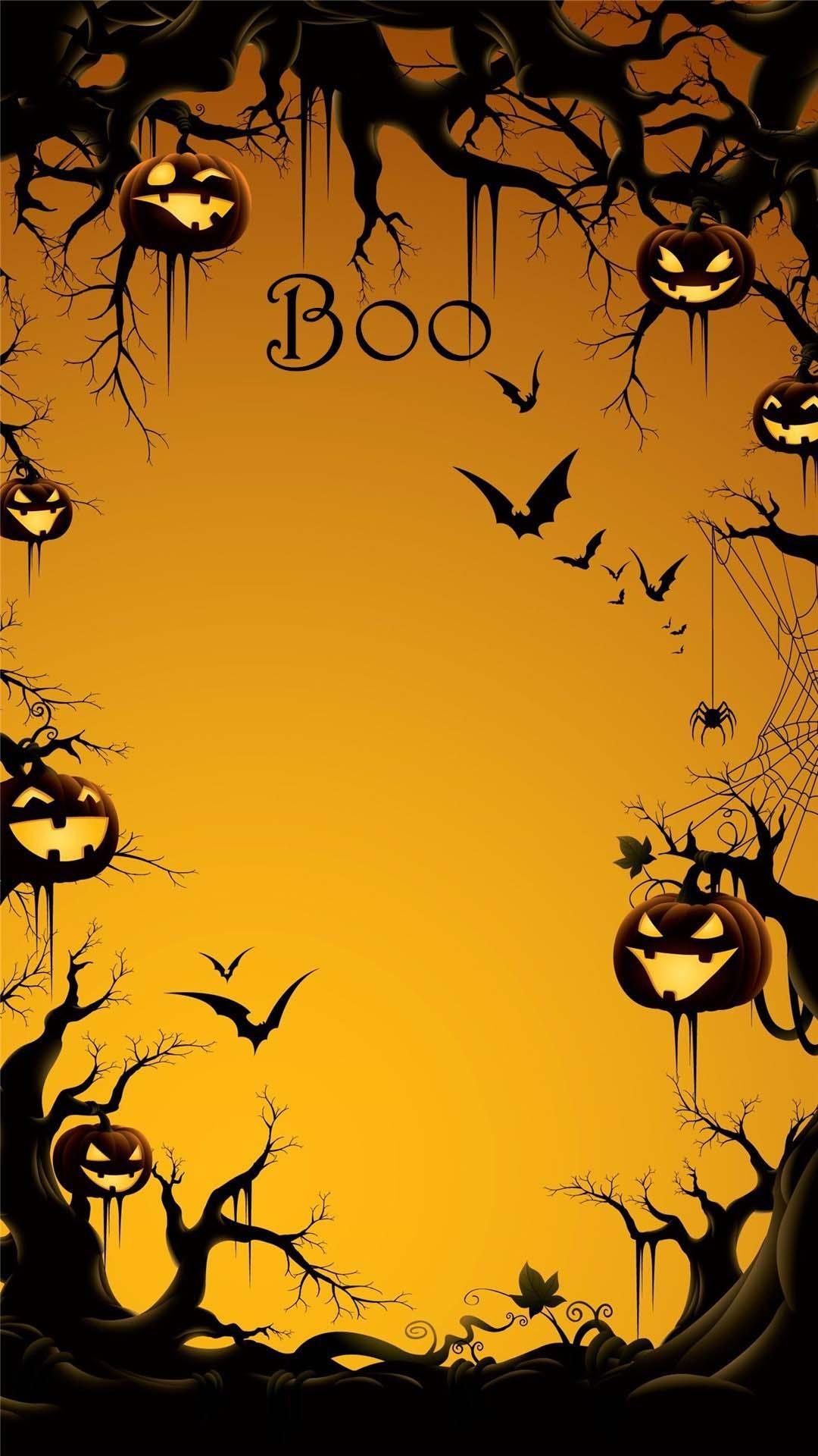Hình nền Halloween cute cho điện thoại
