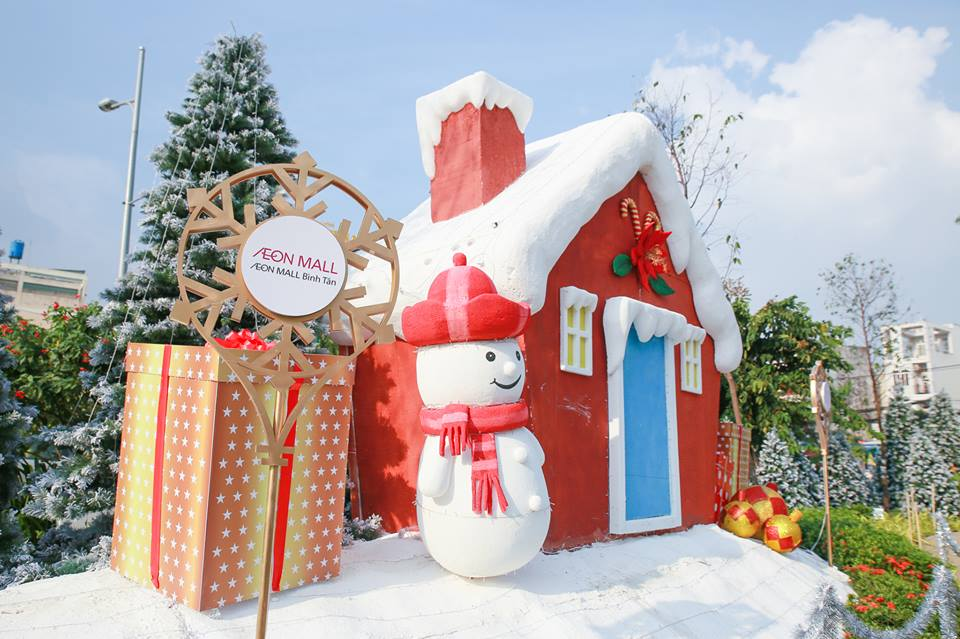 Khu vườn trang trí Giáng Sinh Noel ấn tượng nhất
