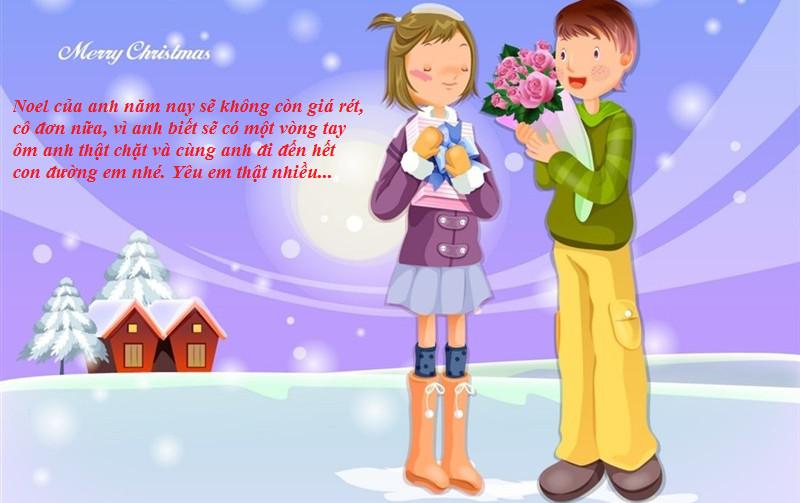 Thiệp lời chúc giáng sinh tặng người yêu
