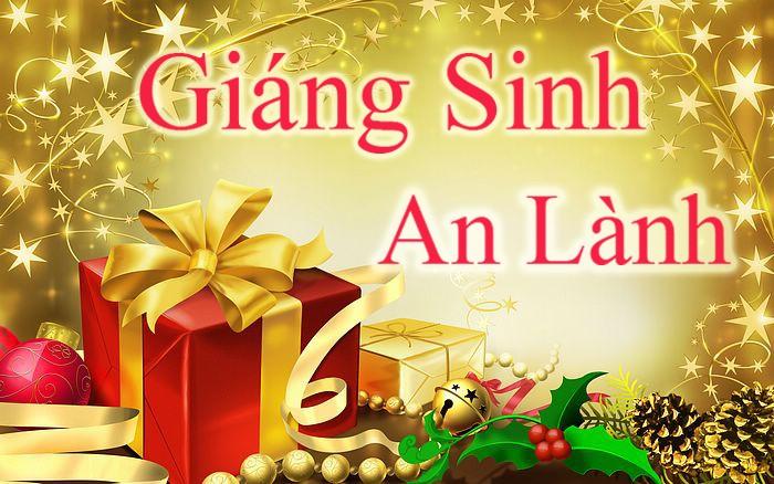 Thiệp mừng giáng sinh an lành