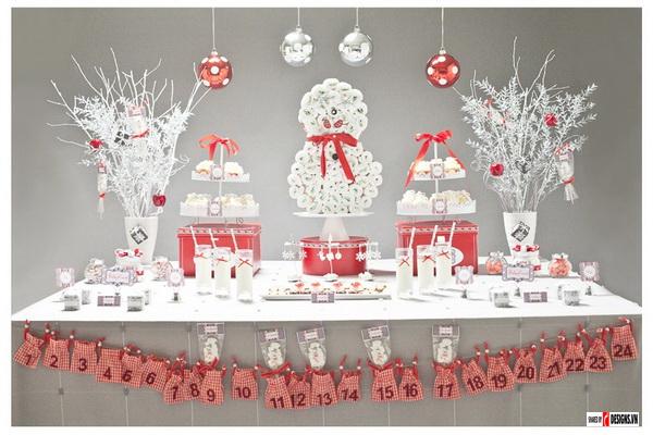 Thiết kế nội thất trang trí thiệp Noel giáng sinh