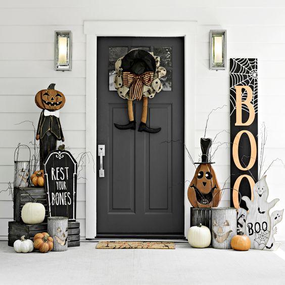 Trang trí cửa halloween đẹp