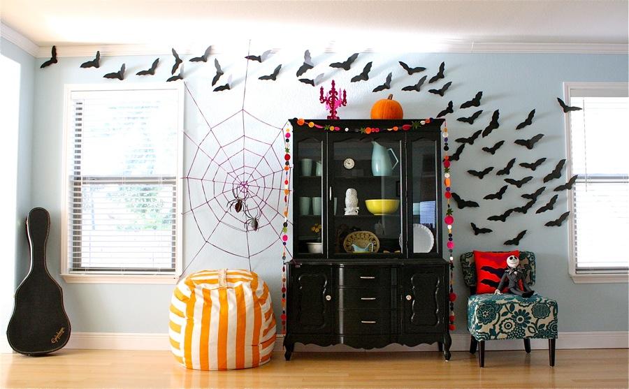 Trang trí halloween phòng ngủ