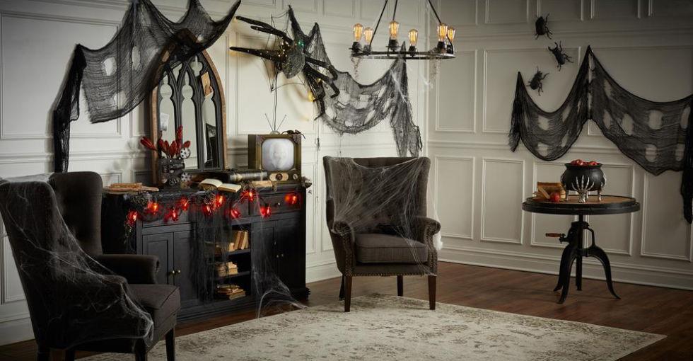 Trang trí phòng khách halloween đẹp