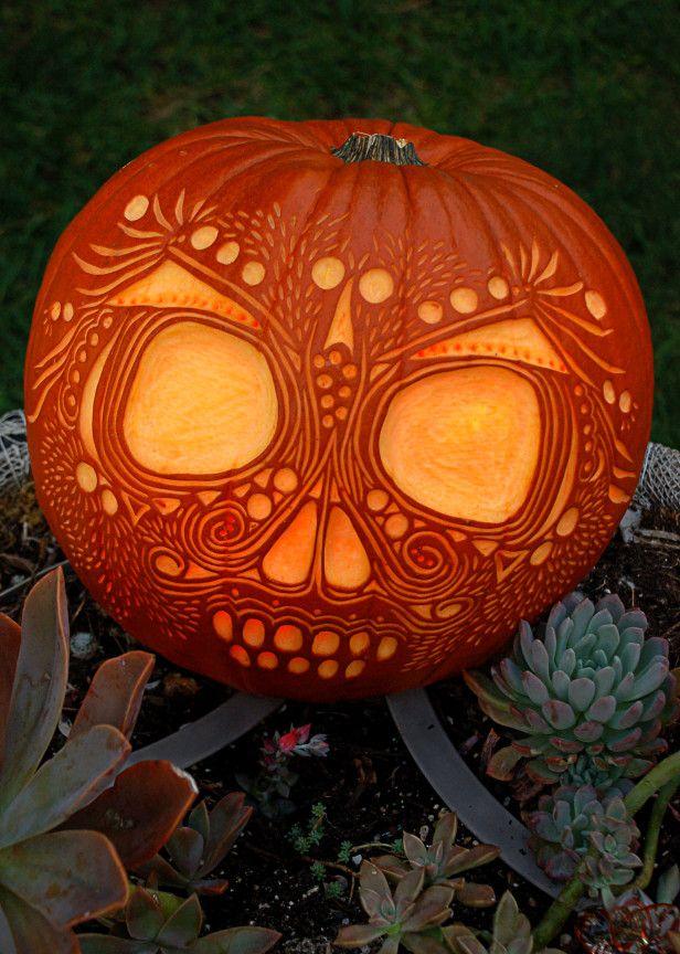 Bí ngô halloween hoa văn đẹp nhất