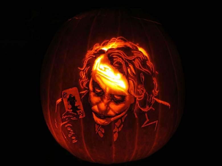 Khắc quả bí ngô halloween đẹp