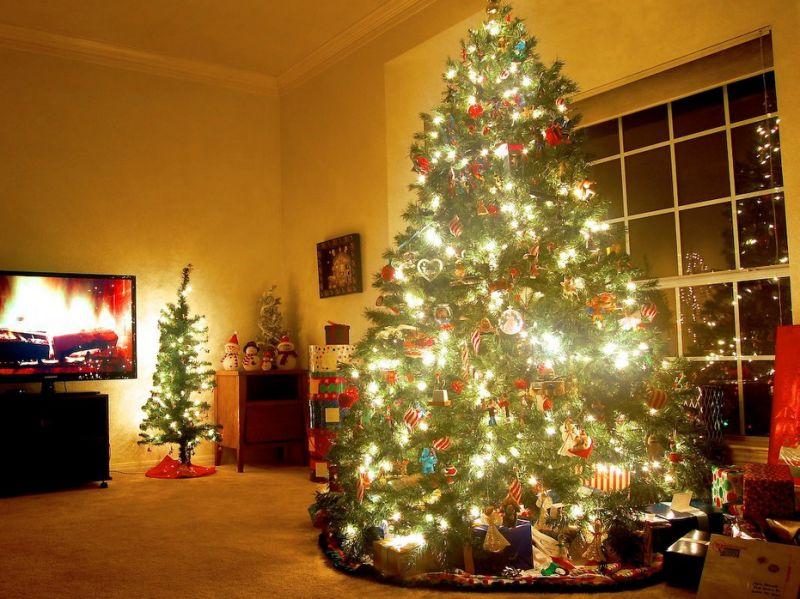 Ảnh cây thông noel đẹp trong nhà