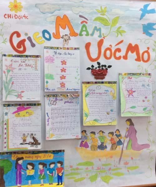 Báo tường 20-11 tiểu học