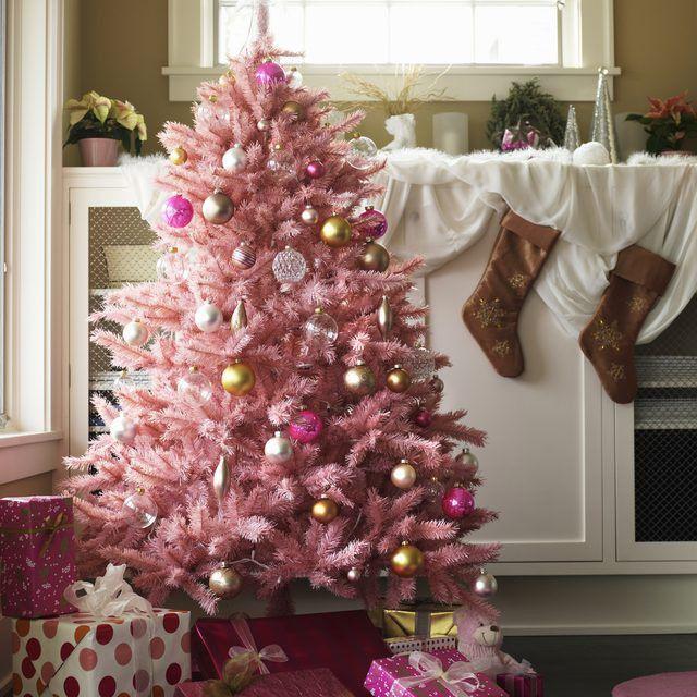 Hình ảnh cây thông noel màu hồng đẹp nhất
