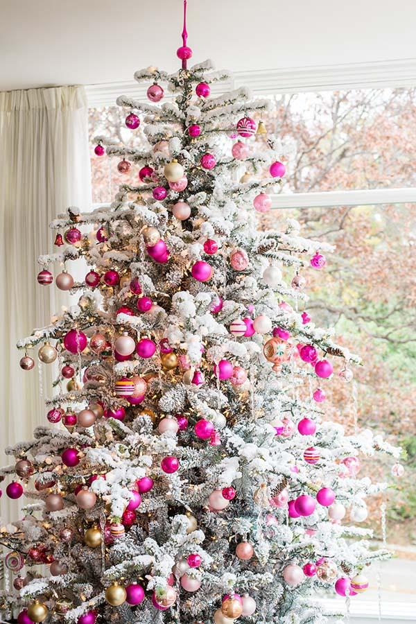 Hình ảnh cây thông noel trắng đẹp